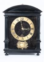 Beautiful Early and Small Dutch Striking Ebony Hague Wall Clock, circa 1660