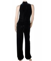 Hermes Black Velvet Pant Suit