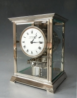 Atmos clock, nickel case J. L. Reutter, no 1397, France ca. 1930.