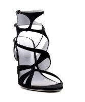 Sergio Rossi 'Scarpe Donna' Black Suede Multi Strap High Heel Sandal - Sergio Rossi