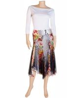 Just Cavalli Multicolor Flared Skirt
