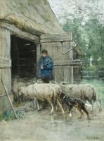 Le retour der troupeau - Anthony (Anton) Mauve
