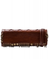 Yves Saint Laurent Brown Leather Clutch - Yves Saint Laurent