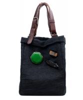 Marni Blue Woven Tote Bag