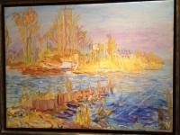 Waterlandscape in summertime