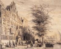 De Sint-Sebastiaansdoelen aan het Singel te Amsterdam - Cornelis Springer