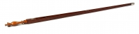 Dutch mahogany yardstick with silver inlay