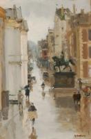A view of the Noordeinde, The Hague - Floris Arntzenius (Surabaya 1864-1925 The Hague)