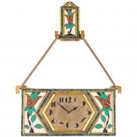 Very Unusual and Decorative Art Deco Wall Clock circa 1920, Signed Gubelin