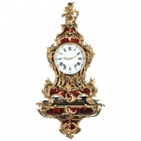 Very Important Louis XV Swiss Tortoiseshell Clock Jaquet Droz, circa 1750