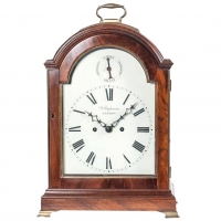 English Regency Mahogany Table Clock, circa 1800