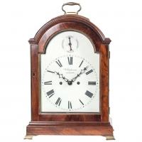 English Regency Mahogany Table Clock, circa 1800