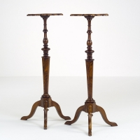 Pair of Dutch Walnut Torchères