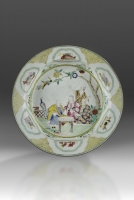 """A Large Serving Dish with """"The Four Doctors"""" - Cornelis Pronk"""