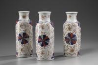 A Pair Chinese Imari Vases
