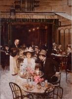 Crowded Parisian Brasserie