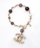 Chanel Pearl CC Charm Bracelet