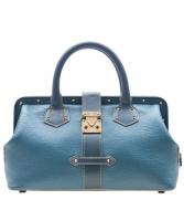 Louis Vuitton Blue Suhali Leather L'Ingenieux PM Bag
