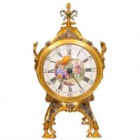 An English ormolu and silver pendulum clock with (quarter) hour strike 'Grand Sonnerie', by Stephen Rimbault/attr.to Johann Zoffany, circa 1765