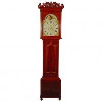 A Welsh mahogany longcase clock with moonphase W. Rowland Pwllheli circa 1830