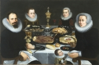 Portrait of a patrician family (Dutch School)