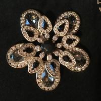 Valentino Garavani Black & White Swarovoski Crystal Brooch