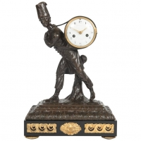 A good and very unusual Louis XVI mantel clock circa 1780