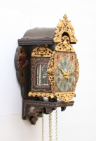 A miniature Dutch Frisian wall clock 'schippertje', circa 1800