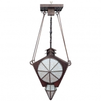 An unusual Amsterdam School Hanglamp from around 1900