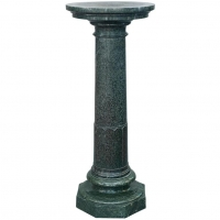 A large Art Nouveau green marble column. Circa 1900.
