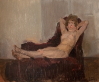 Lying Nude on a Couch