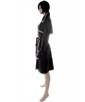 Chanel Black and White Leather Trench Coat 05P