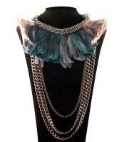 Lanvin Feather Chainlink Necklace - Lanvin