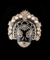 Valentino 's Monumental Japanese Inspired 'Mask Brooch'