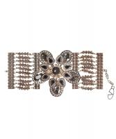 Valentino Onyx en Witte Swarovski Kristallen Armband - Valentino