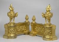 Pair Of French Louis XVI Gilt Bronze Chenets