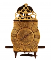 LA13 Early miniature French lantern alarm clock in unrestored original condition