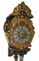 DW11 Miniature 18th century Dutch-Frisian 'stoeltjesklok schippertje' with alarm function.