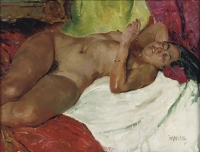 Reclining nude  from the private collection of the late Dr. Alfred H. Heineken