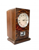 M169 Coromandel wooden Reutter Atmos clock, Art Deco period and style, France ca 1930.
