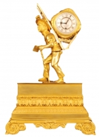 ABS-13 Gilt bronze ' portefaix' clock, miniature