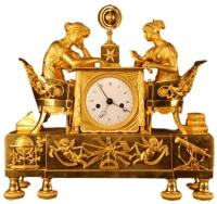 M13 Empire Mantel Timepiece 'La leçon d'Astronomie'.