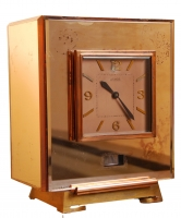M194 Atmos clock with colored Mirrors cabinet, number 6866 J.L. Reutter, France