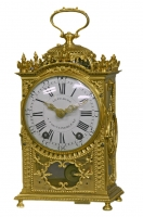 C13 Ormolu Quarter-Repeating 'Pendule d'Officier'LeFebure a Fontainebleau.