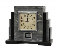 M165 French marble Atmos mantel timepiece set Reutter.