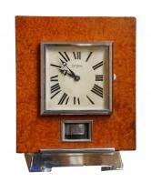M161 Atmos clock, Amboina wood, J.L. Reutter, number 919, France circa 1930.