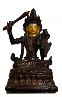 Oda 36 Chino-Tibetan gilt bronze figure of a deity