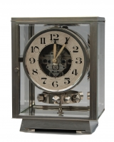 M177 Nickel plated art deco J. L. Reutter four-glass Atmos clock.