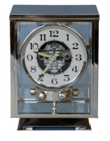 M203 Nickel plated art deco J. L. Reutter four-glass Atmos clock.