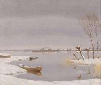 Winterlandscape near Loosdrechtse Plassen (Holland)